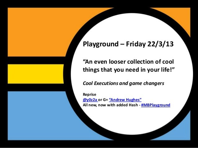"""Playground – Friday 22/3/13""""An even looser collection of coolthings that you need in your life!""""Cool Executions and game c..."""