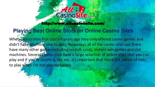 Playing Best Online Slots On Online Casino Sites