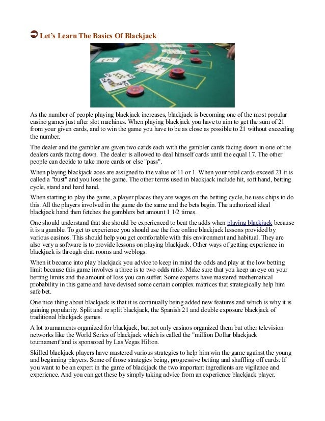 Blackjack For Beginners