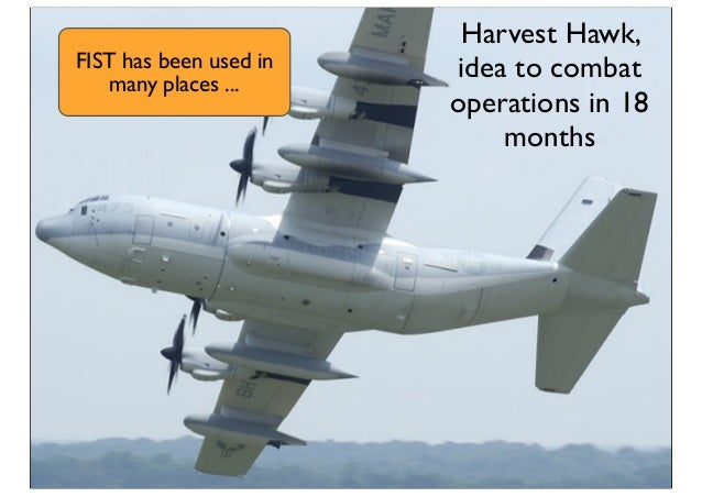 Harvest Hawk, idea to combat operations in 18 months FIST has been used in many places ...