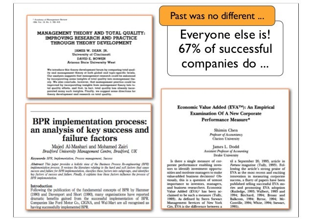 Everyone else is! 67% of successful companies do ... Past was no different ...