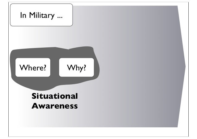 Where? Why? Situational Awareness In Military ...