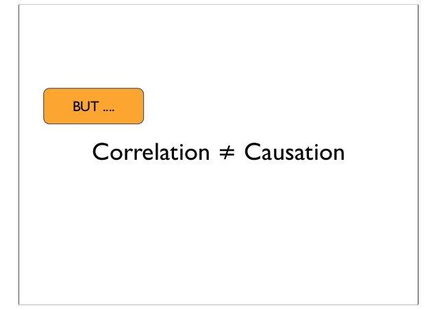 Correlation ≠ Causation BUT ....