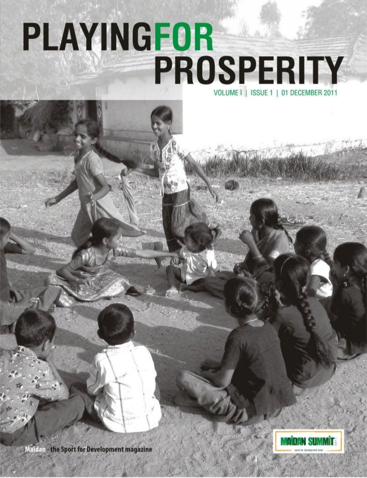 Playing for Prosperity | Maidan - the Sport for Development magazine