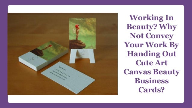 Playing with a full deck of cards unique salon business card ideas other working in beauty why not convey your work by handing out cute art canvas beauty looking to be playful with your business cards reheart Choice Image