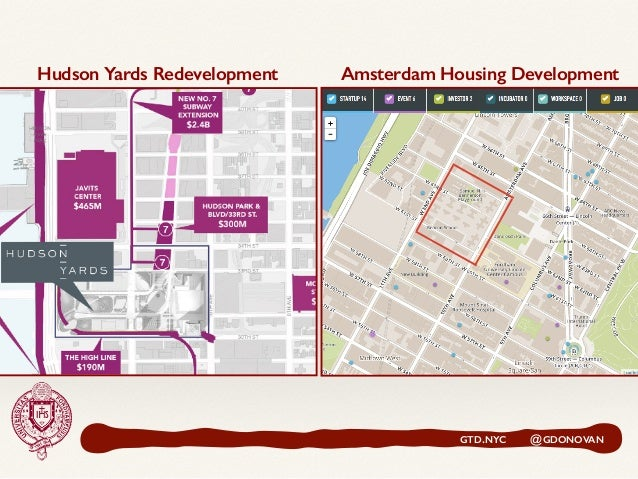 GTD.NYC @GDONOVAN Hudson Yards Redevelopment Amsterdam Housing Development