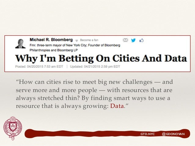 """""""How can cities rise to meet big new challenges — and serve more and more people — with resources that are always stretche..."""