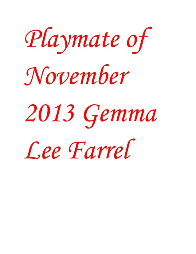 Playmate of November 2013 Gemma Lee Farrel