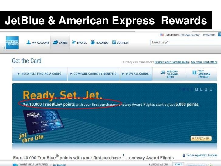 JetBlue & American Express  Rewards<br />