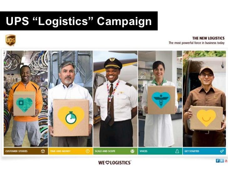 """UPS """"Logistics"""" Campaign<br />"""