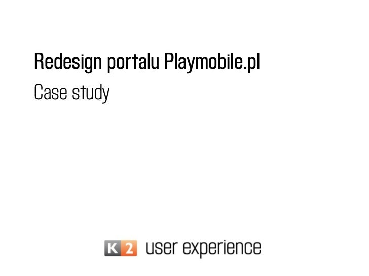 Redesign portalu Playmobile.plCase study