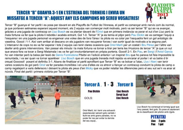 Playoffs futbol 3er curs 2013