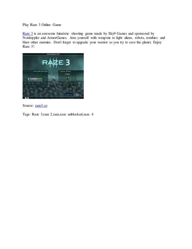 Play raze 3 online game