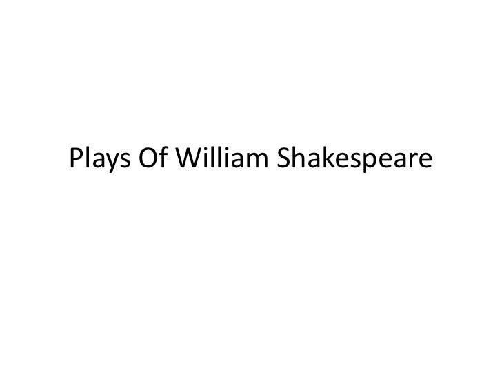 Plays Of William Shakespeare