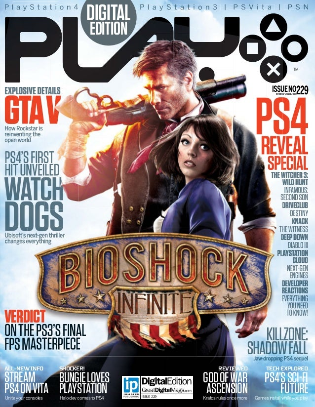 PlayStation4  DIGITAL  P l a y S t a t i o n 3 | P S V i t a | P S N  EDITION  TM  ISSUE NO229  EXPLOSIVE DETAILS  GTA V  ...