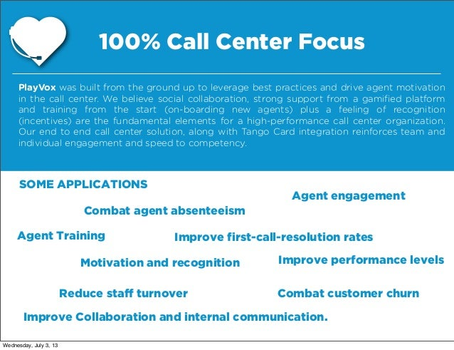 PlayVox - The Call Center Gamification Platform
