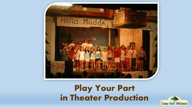Play Your Part in Theater Production