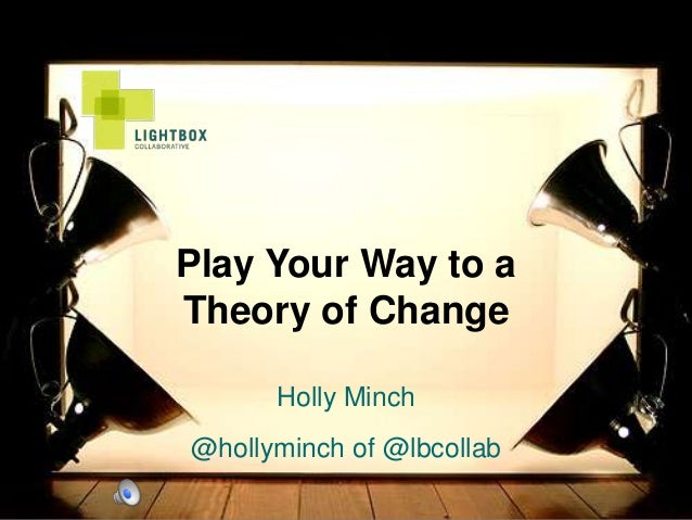Play Your Way to aTheory of ChangeHolly Minch@hollyminch of @lbcollab