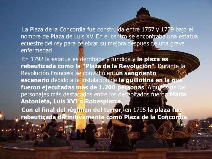Plaza de la concordia Slide 3