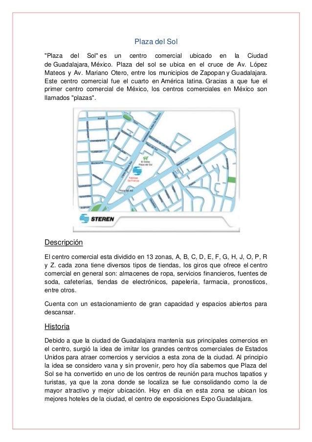 """Plaza del Sol """"Plaza del Sol"""" es un centro comercial ubicado en la Ciudad de Guadalajara, México. Plaza del sol se ubica e..."""