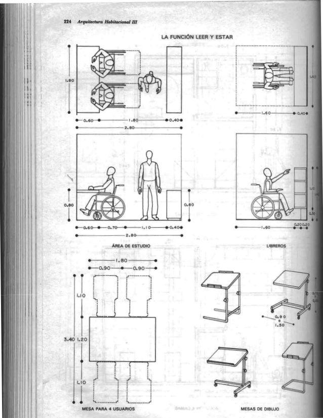 Plazola arquitectura habitacional for Medidas de una oficina arquitectura
