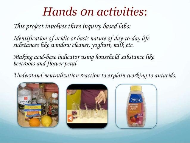 acidic household substances