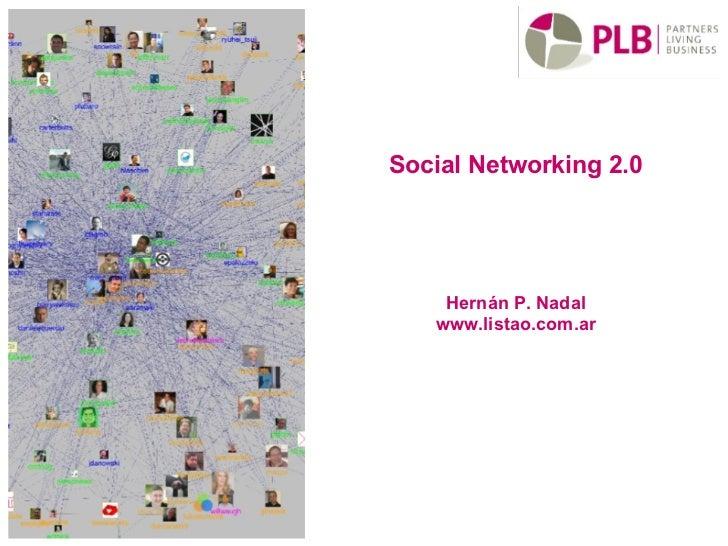 Social Networking 2.0 Hernán P. Nadal www.listao.com.ar