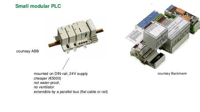 Specific controller (railways)  data bus  special construction: no fans, large temperature range, vibrations  three PLCs n...