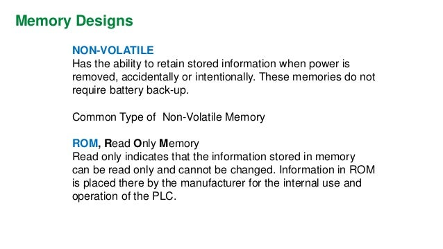 Memory Designs  EPROM,Erasable Programmable Read Only Memory  Ideally suited when program storage is to be semi- permanent...