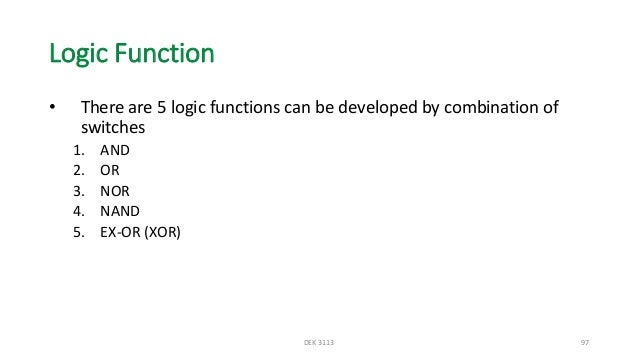 Logic Function…cont -AND