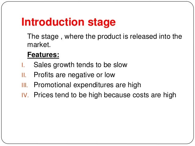 according to the product life cycle model profits tend to