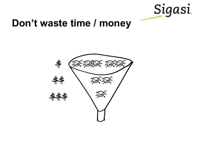 Don't waste time / money