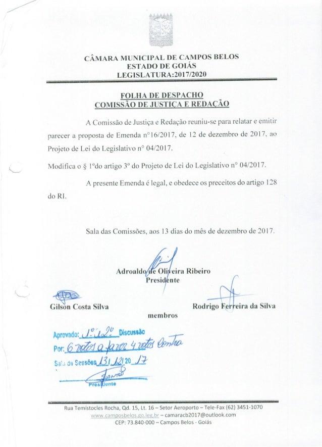 PL contra o nepotismo em Campos Belos
