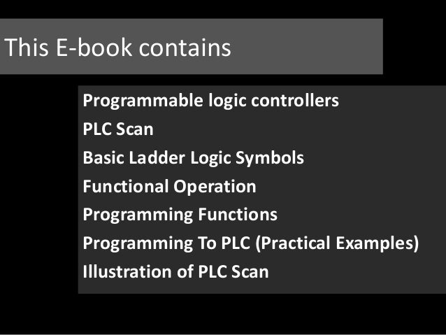 Programmable Logic Controller And Ladder Logic Programming