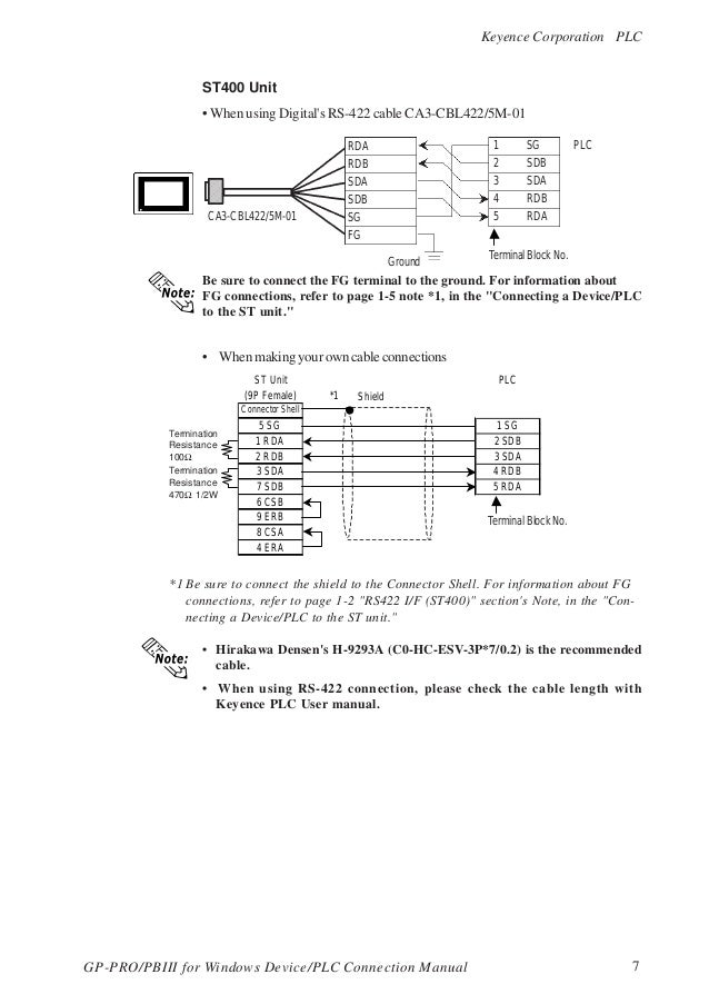 keyence plc user manual  termination resistance 470� 1/2w