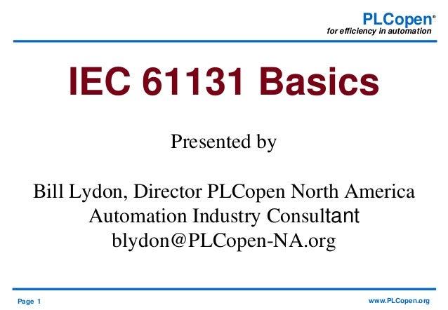 PLCopen IEC 61131 Basics 2015 PDF