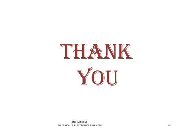THANK  YYOOUU  26  ANIL MAURYA  ELECTRICAL & ELECTRONICS ENGINEER