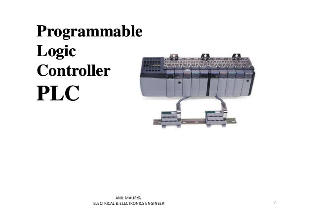 Programmable  Logic  Controller  PLC  7  ANIL MAURYA  ELECTRICAL & ELECTRONICS ENGINEER