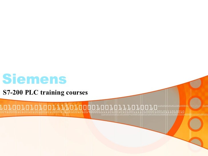 Siemens S7-200 PLC training courses