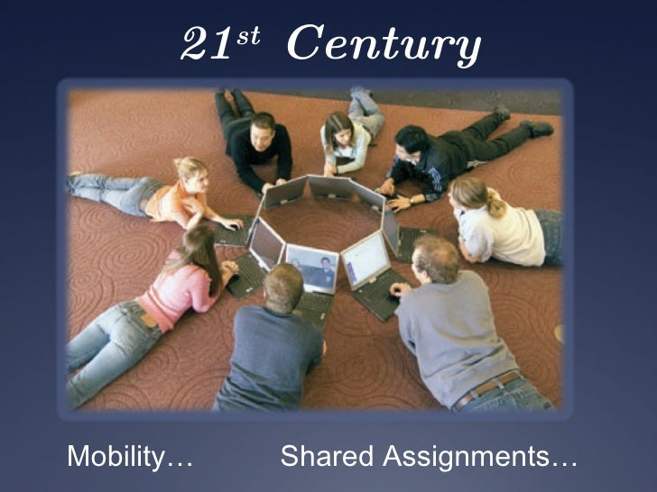 21 st  Century Classrooms Mobility… Shared Assignments…