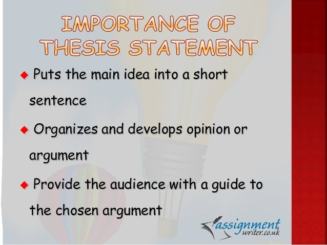 develop a thesis statement This is a weak thesis statement because it merely states an observation your reader won't be able to tell the point of the statement, and will probably stop reading.