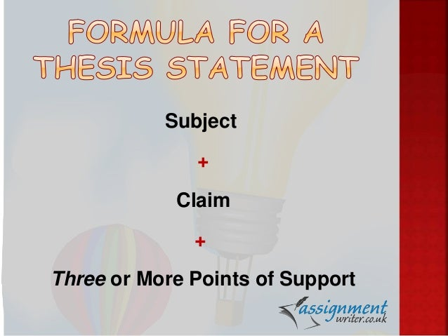 Develop a thesis statement