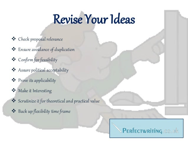 Writing a dissertation proposal 2013