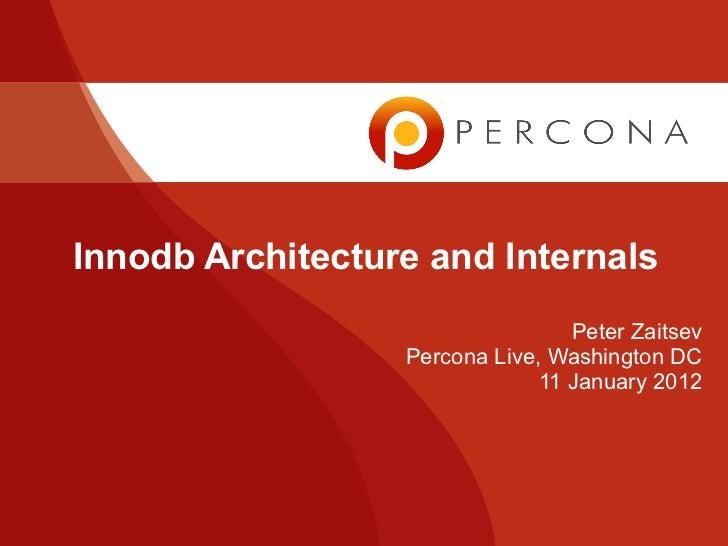 Innodb Architecture and Internals                                  Peter Zaitsev                  Percona Live, Washington...