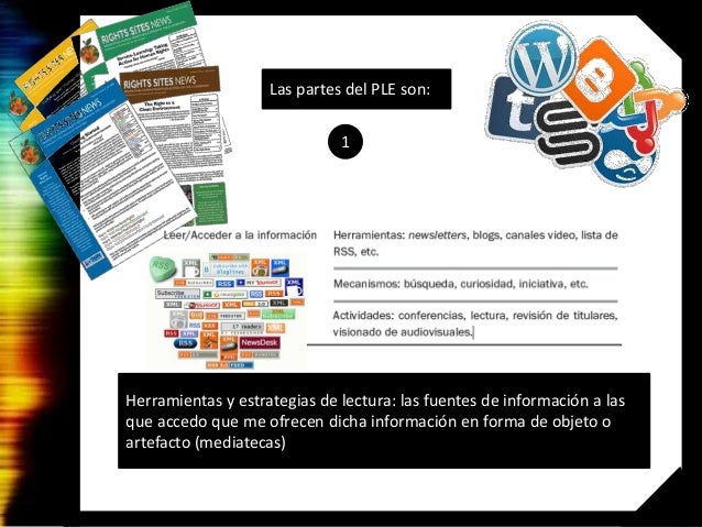 PLE Plataforma Personal de Aprendizaje Slide 3