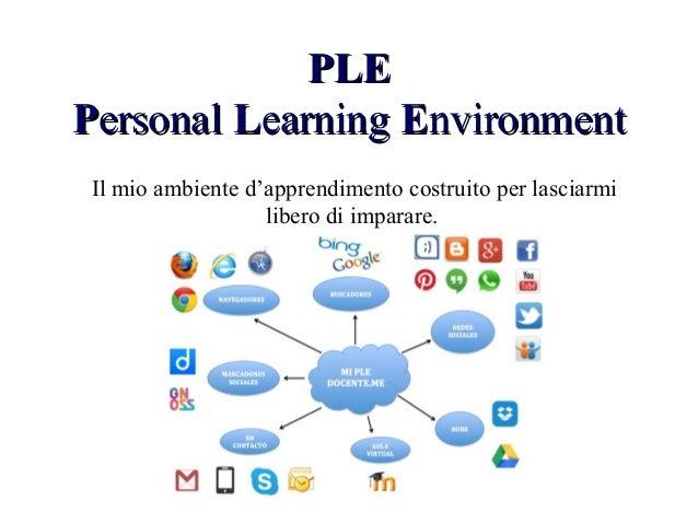 PLEPLE PPersonalersonal LLearningearning EEnvironmentnvironment Il mio ambiente d'apprendimento costruito per lasciarmi li...