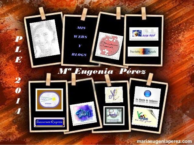 MIS  P L E 2 0 1 4  WEBS Y B L O GS  Mª Eugenia Pérez  mariaeugeniaperez.com