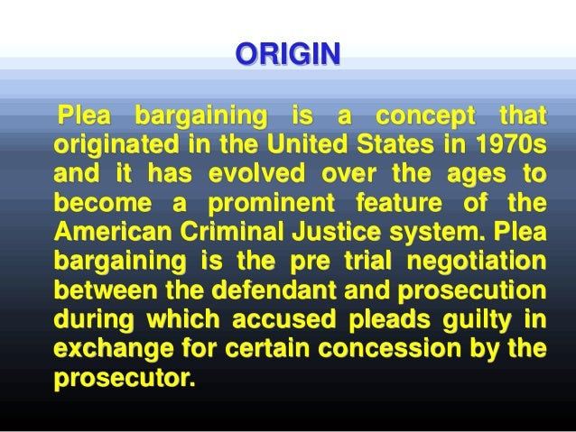 Plea bargaining process