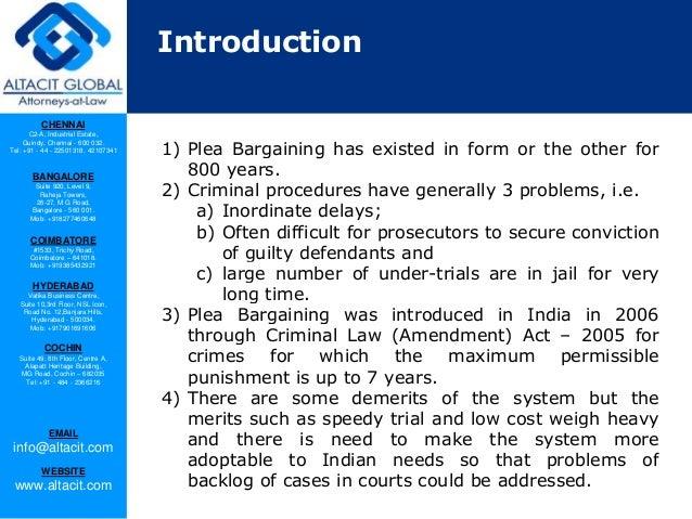 Plea bargaining in India Slide 3