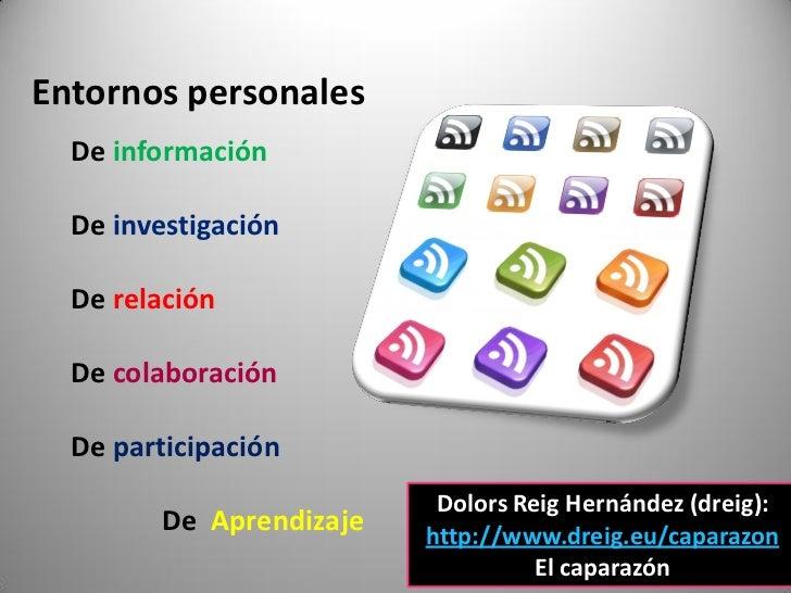 Entornos personales   De información    De investigación    De relación    De colaboración    De participación            ...
